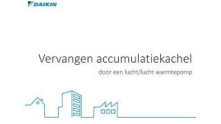 Vervang uw elektrische accumulatiekachel door een lucht/lucht warmtepomp