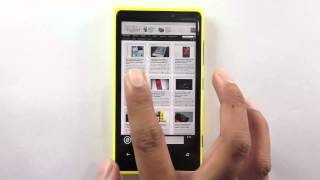 Pin Websites to Home Screen on Nokia Lumia 920 WP8 Smart Phone