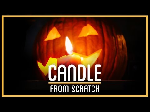 Jack-o-Lantern Candles From Scratch