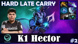 K1 Hector - Riki Offlane | HARD LATE CARRY | Dota 2 Pro MMR Gameplay #2