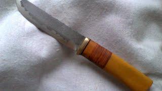 Нож из мехпилы(Р6М5) # 6 + ножны для ножа # 5.