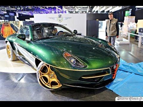 Alfa Romeo C Disco Volante By Touring Superleggera Startup Driving Sound