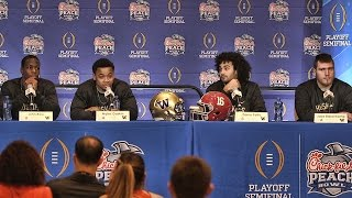 Hear what washington's offensive stars had to say about alabama