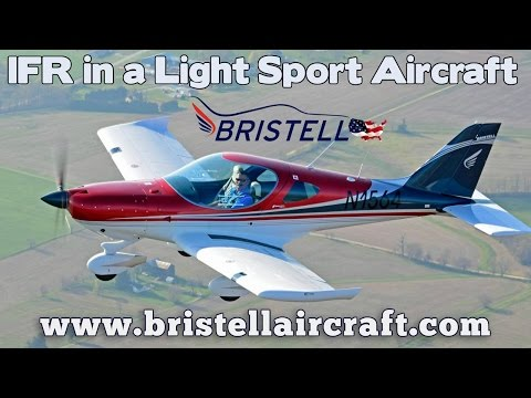 IFR in a Bristell LSA, IFR in a light sport aircraft, Bristell Aircraft.