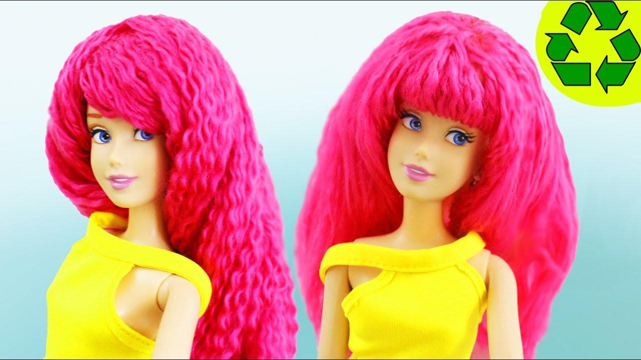 Diy How To Make Doll Yarn Wig Easy Crafts Boneka Hello Kitty Wedding14ampquotn A Simplekidscrafts