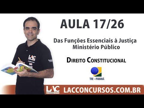 TRE-PR 2017 - Das Funções Essenciais à Justiça - Ministério Público - 17/26