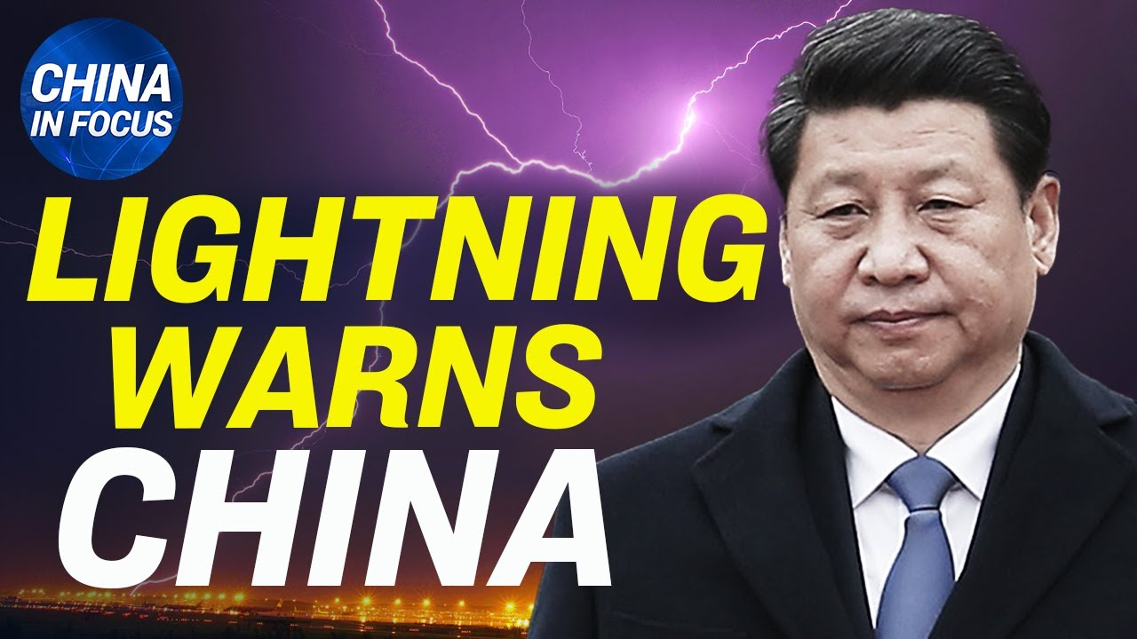 Unusual lightning bolt strikes China's high-rise; China army dance threatens to destroy