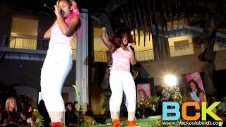 the omg girlz perform at the 2011 runway red charity fashion show
