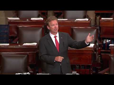 Senator Paul Urges Colleagues To Vote For America First Amendment