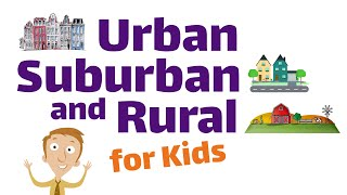 Urban, Suburban and Rural Communities   First and Second Grade Social Studies Lesson