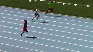 Icahn Stadium 2015 9 & 10 boys 100m Jalen Balbuena