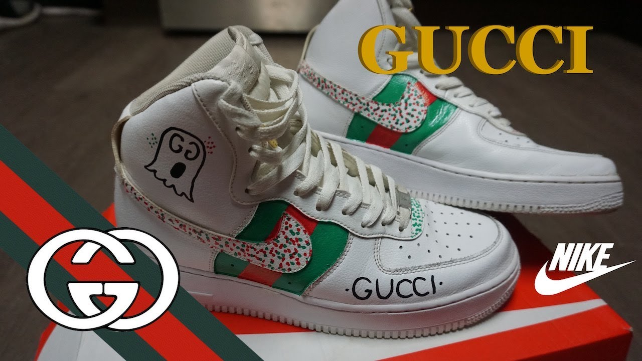 Gucci Nike Air Force 1 Custom Youtube