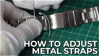 How to adjust Meтal Watch Straps