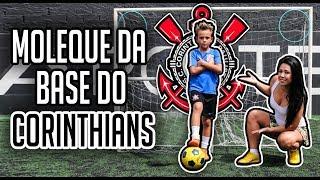 DESAFIEI O MENINO DO CORINTHIANS DE 7 ANOS VALENDO UMA BOLA MINHA!!!