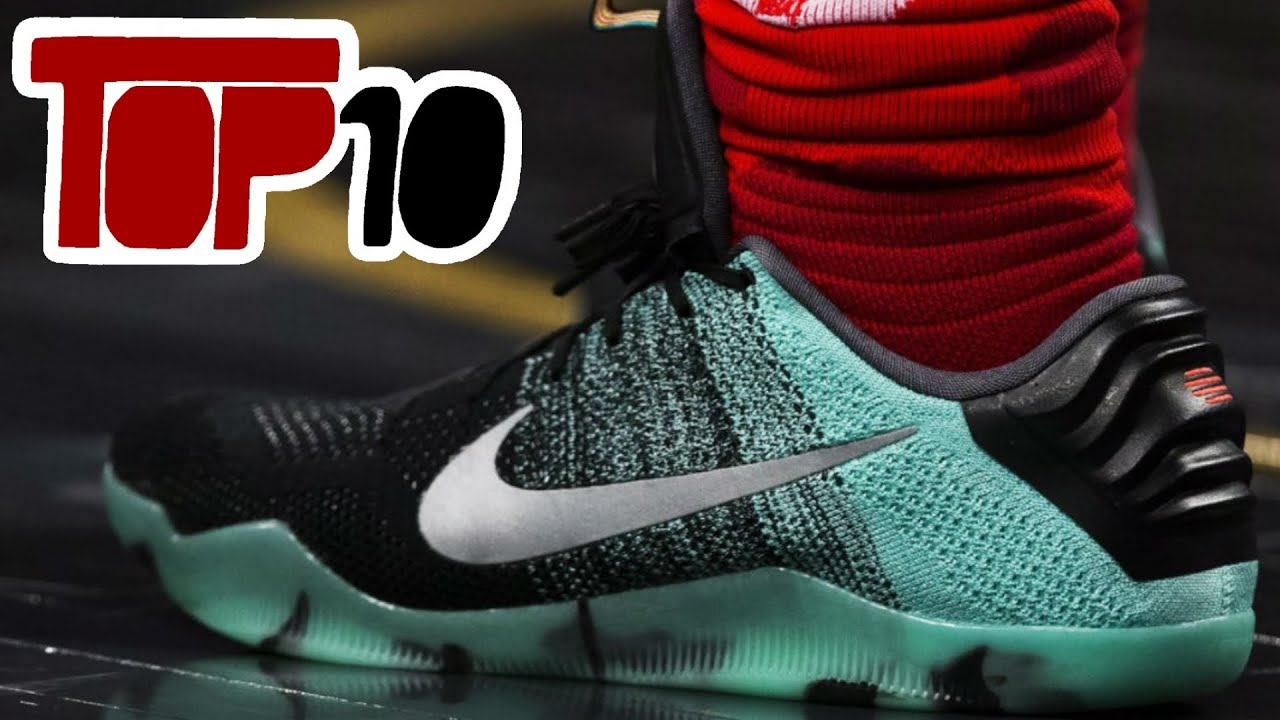 ... top 10 nike kobe 11 shoes of 2016 youtube