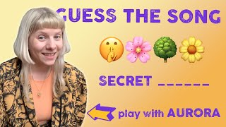 Play: Guess The S๐ng By The Emojis With @AURORA | The Emoji Game