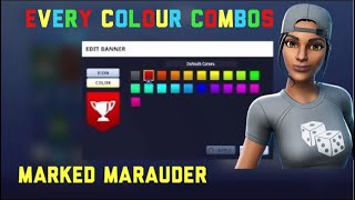 Combos For Every Color for the Marked Marauder Skin Fortnite