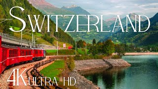Switzerland (4K UHD) Relaxing Piano Music & Nature Soundscapes • Relaxation FIlm