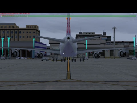 P3Dv4 中華航空 China Airlines Cargo 747 World Flight DXB(杜拜)-TPE(台北) Arrival