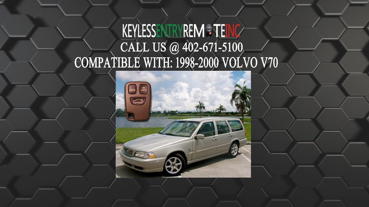 How To Replace A Volvo V70 Key Fob Remote Battery 1998, 1999, and