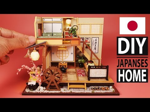 DIY Miniature Japanese Style Handcraft Toy Doll House ( With Full Furniture & Light )