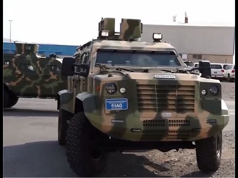 IAG International Armoured Group Jaws Guardian 4x4 APC armoured personnel carrier DSEI 2015 London U