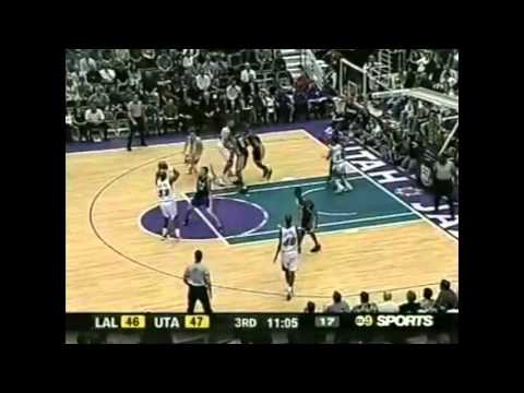 39yrs old Karl Malone (25pts/6asts some sick assists !) vs Lakers - 2003 NBA Season