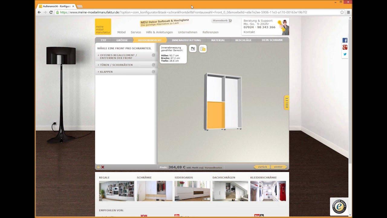 Meine Möbelmanufaktur 3d schrankkonfigurator anleitung meine möbelmanufaktur