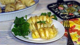 Картошка гармошка с салом в духовке