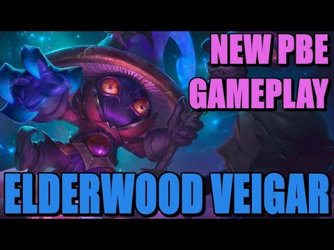 LoL - Elderwood Veigar skin gameplay | League of Legends