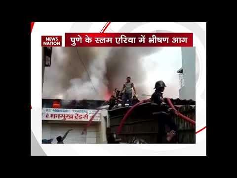 Pune: Fire breaks out in slum near Market yard