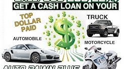 Motorcycle Title Loans - Get a Quick and Easy Motorcycle Title Loan Today