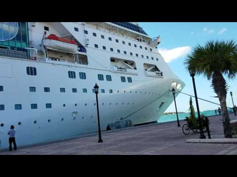 Docked ship at key West port