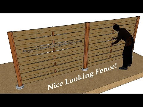 How To Build Wood Fence With Weaving Horizontal Pattern
