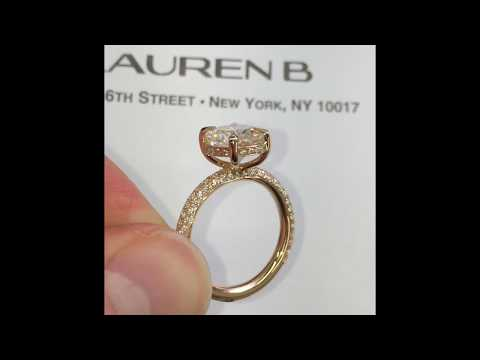 3 ct Oval Moissanite Engagement Ring in Rose Gold