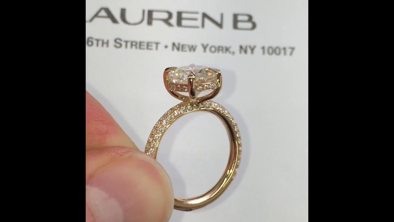 3 Carat Oval Moissanite Engagement Ring In Rose Gold