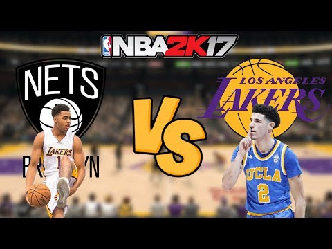 NBA 2K17 - Brooklyn Nets vs. Los Angeles Lakers - Full Gameplay (Updated Rosters)