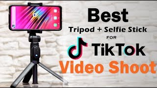 Best Tripod for TikTok Video Shoot | 2 in 1 Bluetooth Folding Tripod Selfie Stick For Mobile