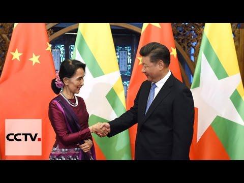 Chinese president meets Aung San Suu Kyi in Beijing