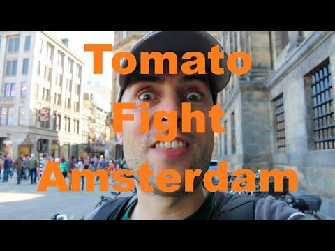 Amsterdam TOMATO FIGHT On Dam Square Dutchified