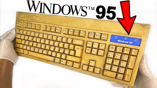 Yellowed Keyboard Restoration - Windows 95 Retrobright