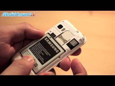 Samsung Wave 723 Sim-Karte und Akku einsetzen Handy Telefon Mobile
