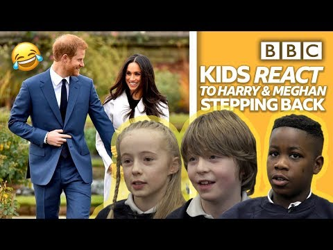 Kids react to Prince Harry and Meghan 'stepping back' 😂 | Newsround - BBC