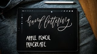 Gambar cover Hand Lettering di iPAD Pro + Apple Pencil + Procreate