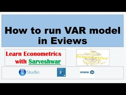 How to run VAR model in Eviews - YouTube