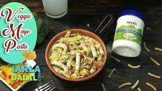 Veggie Mayo Pasta  recipe by Tarla Dalal