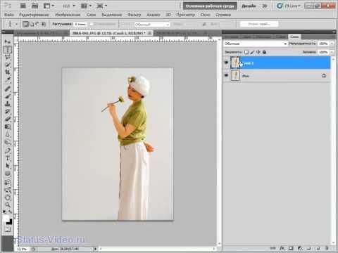 как вставить фото в рамку в фотошопе cs5