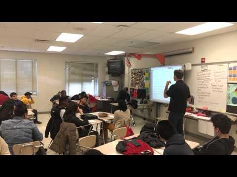 Sam Forline Youth Motivational Speaker Presenting  at JFK High School