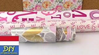 3 ide dekorasi dengan kertas kado
