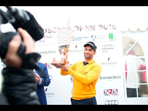 Видео: Lee Slattery the winner of M2M Russian Open 2015 Golfmir ru